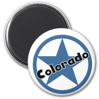 Circle Colorado 6 Cm Round Magnet