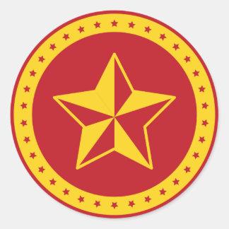Circle Communist Red Star Sticker
