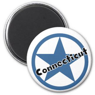 Circle Connecticut 6 Cm Round Magnet