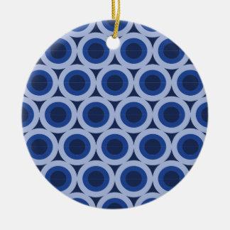 Circle cycle ceramic ornament