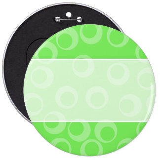 Circle design in green Retro pattern Pin