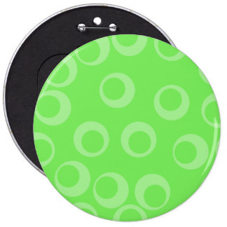 Circle design in green Retro pattern Buttons