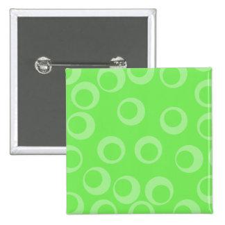Circle design in green Retro pattern Custom Button