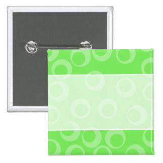Circle design in green Retro pattern Custom Pinback Button