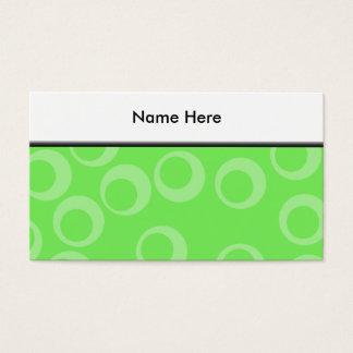 Circle design in green. Retro pattern. Custom Business Card