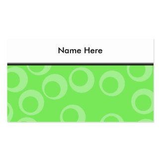 Circle design in green. Retro pattern. Custom Business Card Templates