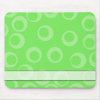 Circle design in green. Retro pattern. Mouse Pad
