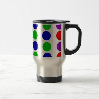 Circle Design Red Blue Green Purple Travel Mug