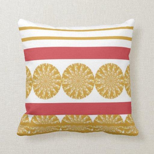 Circle Design Stripe American MoJo Pillow