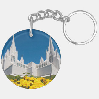 Circle (double-sided) Keychain San Diego Temple