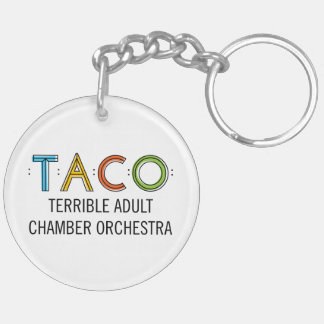 Circle (Double-Sided) TACO Keychain