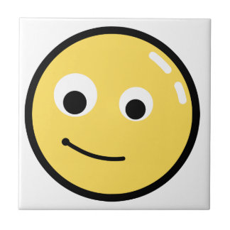 Circle Face Smile Small Square Tile