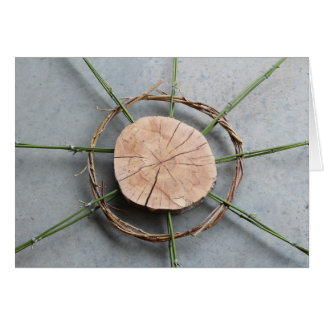 Circle Form 1 Centred Wood and Bamboo Card
