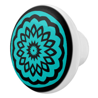 Circle Games: Joyful Blue Ceramic Knob