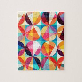 Circle Geometric Kaledioscope Pattern Jigsaw Puzzle
