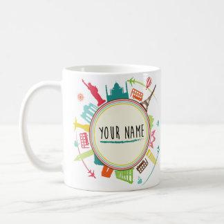 circle globe 3 coffee mug