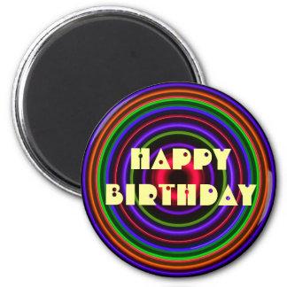 CIRCLE # - HAPPY BIRTHDAY Bullet Hole Magnet