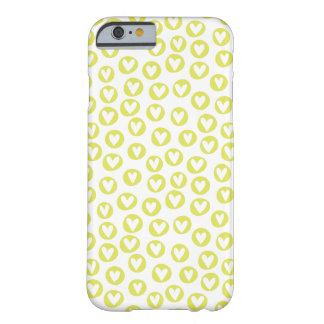 Circle Hearts Pattern iPhone 6 Case (Chartreuse)