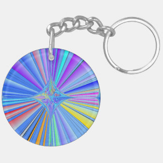 Circle Keychain Starburst