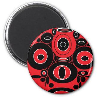 circle king 6 cm round magnet
