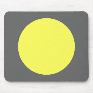 Circle - Lt Yellow and Gray Mouse Pad