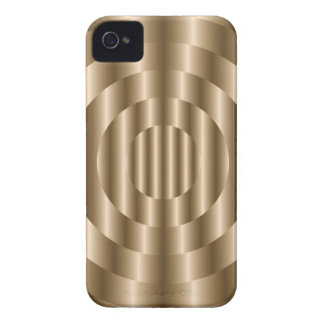 Circle Metal Gold BlackBerry Bold iPhone 4 Cover