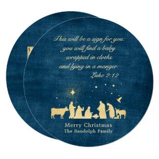 Circle Nativity Christmas Cards