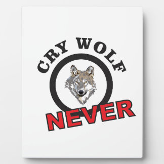 circle never cry wolf plaque