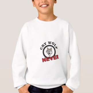 circle never cry wolf sweatshirt