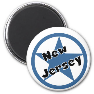 Circle New Jersey Magnet