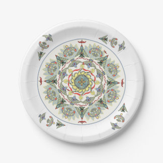 Circle of Birds Paper Plate