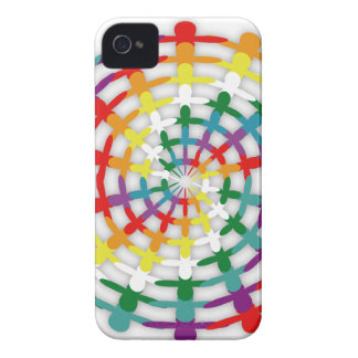 Circle of Colors iPhone 4 Case