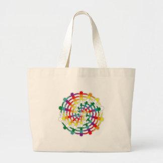 Circle of Colors Large Tote Bag