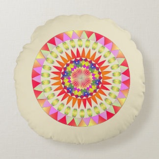 Circle of colors. round cushion