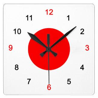 Circle of day square wall clock