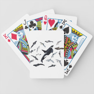 Circle of dolphins bicycle playing cards