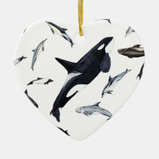 Circle of dolphins ceramic ornament