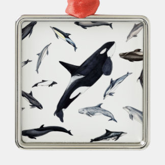 Circle of dolphins metal ornament