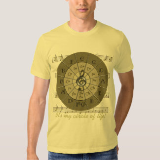 Circle of Fifths Deco Gold Tees