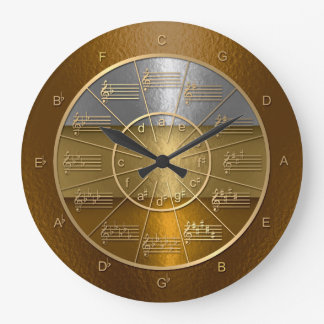 Circle of Fifths for Musicians Who Shine Large Clock