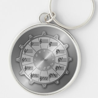 Circle of Fifths Gear for Musicians Key Ring
