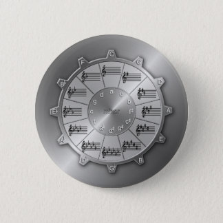 Circle of Fifths Musical Gear 6 Cm Round Badge