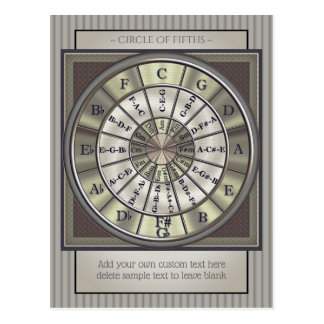 Circle of Fifths Musicians Postcard