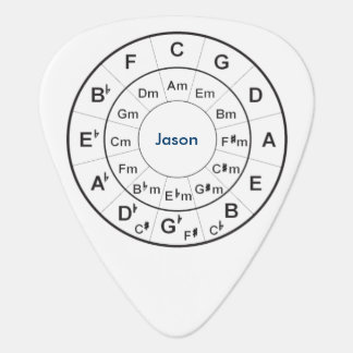 Circle of Fifths personalised guitar pick