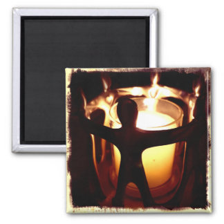 Circle of Friends Votive Candle Retro Filter Square Magnet