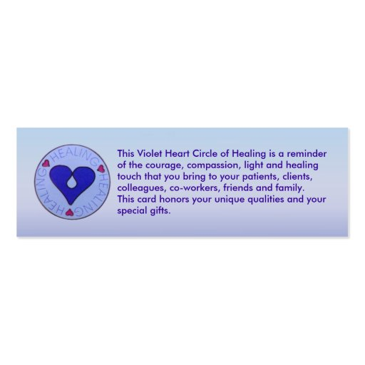 Circle of Healing - Caregiver's Profile Card Business Cards