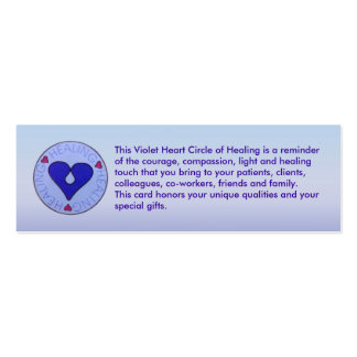 Circle of Healing - Caregiver's Profile Card Pack Of Skinny Business Cards