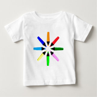 Circle of Highlighter Pens Baby T-Shirt