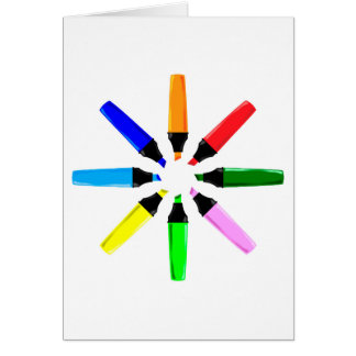 Circle of Highlighter Pens Card