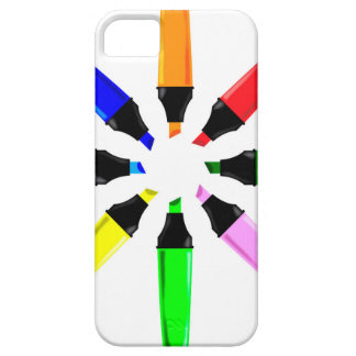 Circle of Highlighter Pens iPhone 5 Covers